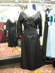 1930s dress black with lace