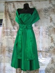 1960's dress Cocktail green with shawl