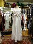 1960's Dress white with shawl