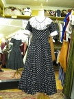 1950's dress b&w Polkadot with lace