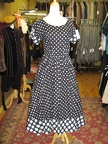 1950's dress b&w polkadot