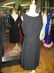 1950's dress black sleeveless