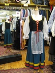 Dirndl blue skirt