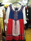 Dirndl red and blue large