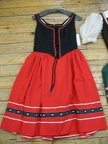 Dirndl red longer skirt