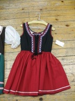 Dirndl red medium length