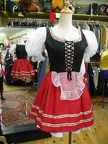 Dirndl red short skirt