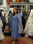 Dress Medieval blue & silver