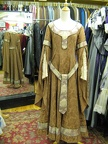 Dress Medieval brown brocade