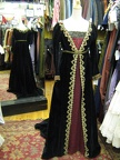 Dress Empire black gold & red